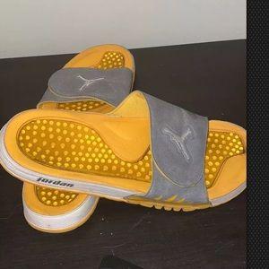 Jordan slides Yellow